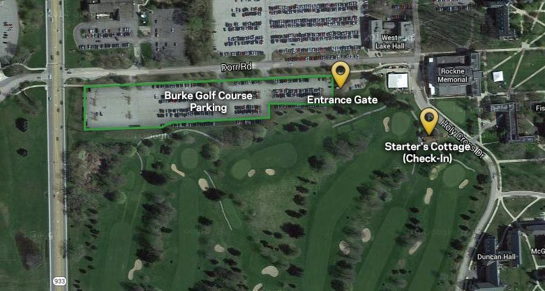 Burke Golf Course map